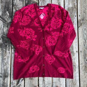 Isaac Mizrahi Live!   Floral Rose Cardigan
